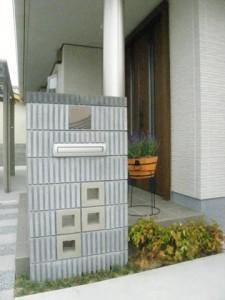 M様邸完成門柱